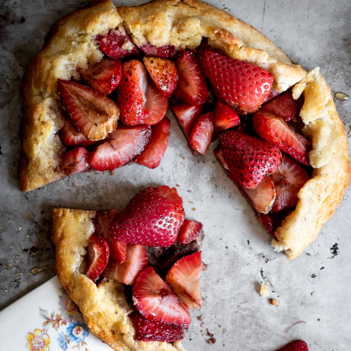 Gluten Free Balsamic Roasted Strawberry Galette