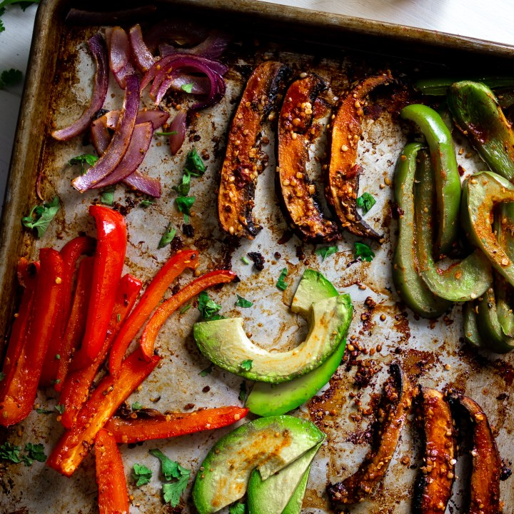Spicy Portobello Sheet Pan Fajitas