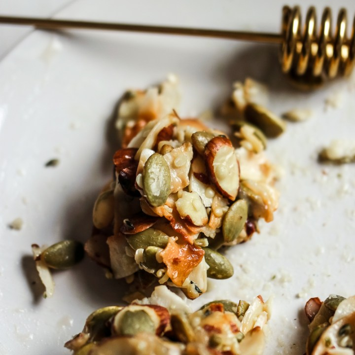 Caramel Coconut Snacks with Hemp and Pumpkin Seeds