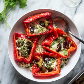 Keto Mediterranean Stuffed Peppers