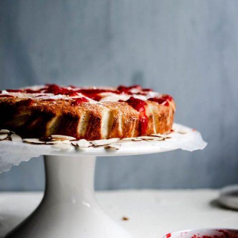 Raspberry Almond Ricotta Cake