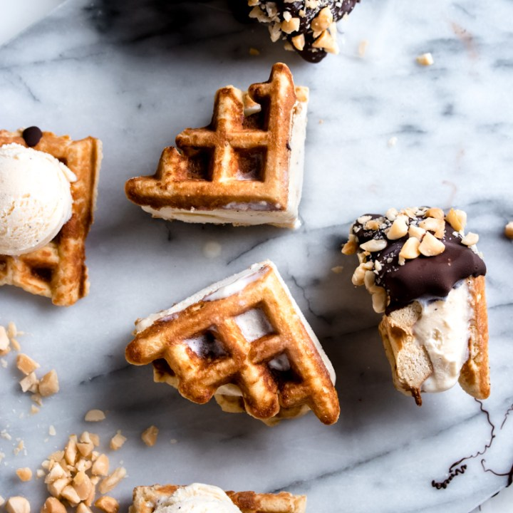Keto Waffle Ice Cream Sandwich