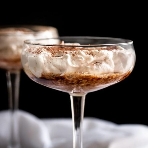 Greek Yogurt Tiramisu for Two {Low Carb & GF}