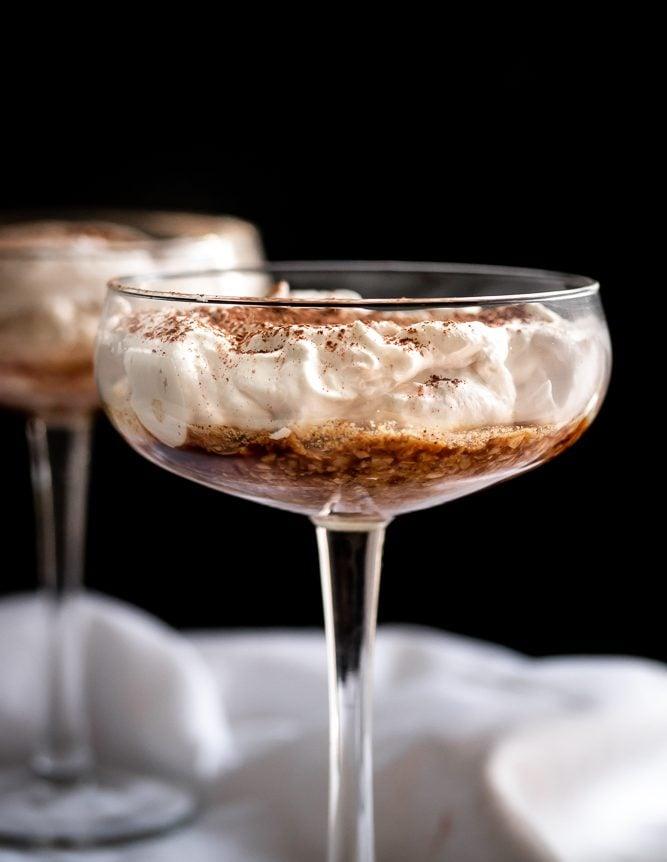 Greek Yogurt Tiramisu for Two {Low Carb & GF}
