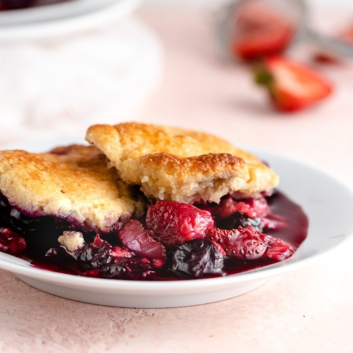 Keto Summer Berry Cobbler