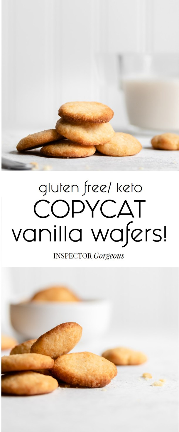 Buttery and crisp keto copycat nilla wafers!