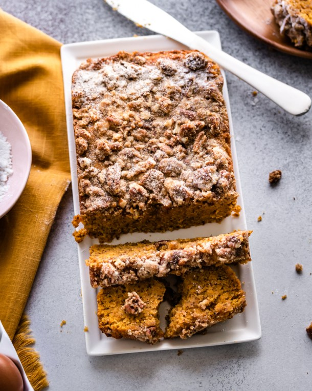 Keto Pumpkin Bread Crumble