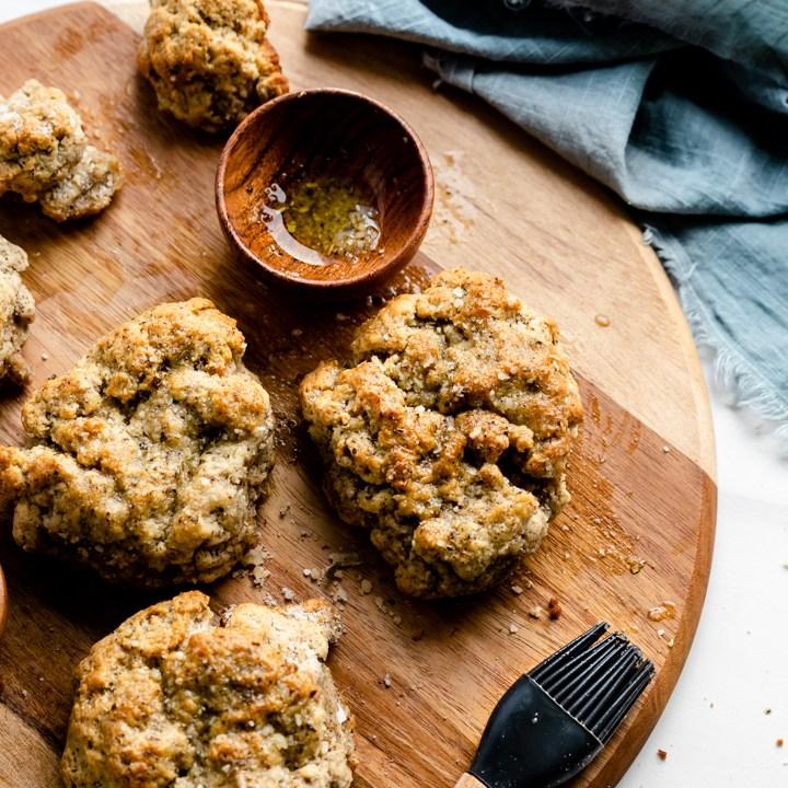 Keto Garlic Bread Biscuits