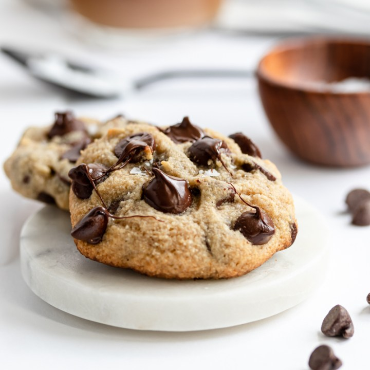 Over Loaded Chocolate Chip Cookies {Gluten Free and Keto!}