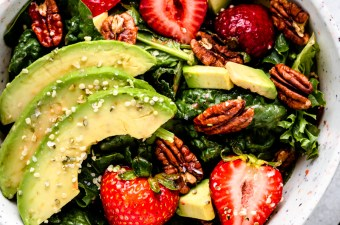 "The ""Anything Goes Strawberry Avocado Salad"" with Balsamic Berry Vinaigrette"