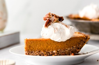 Pecan Crust Pumpkin Pie! Dairy-Free & Keto!