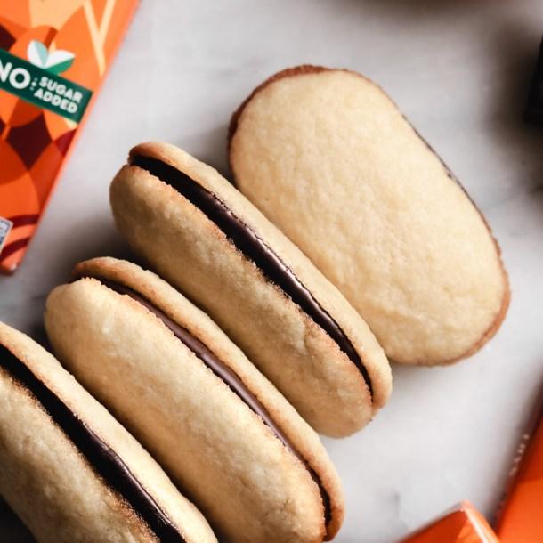 Keto Copycat Milano Cookies with Orange Dark Chocolate