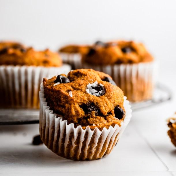Keto Pumpkin Chocolate Chip Muffins