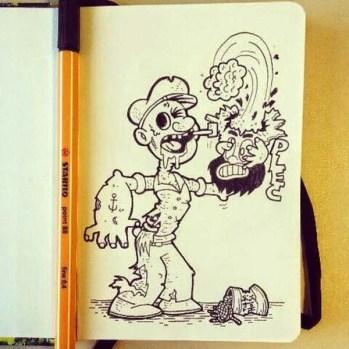 Popeye zumbi - Dia 135