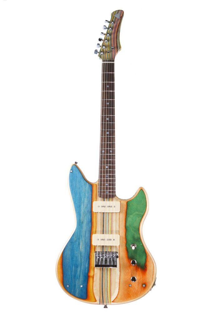 Guitarras feitas de skates velhos
