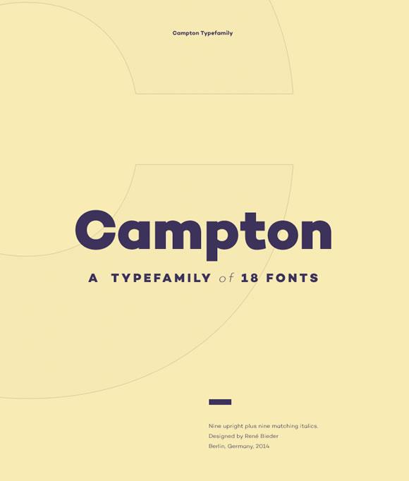 Campton - Fontes grátis