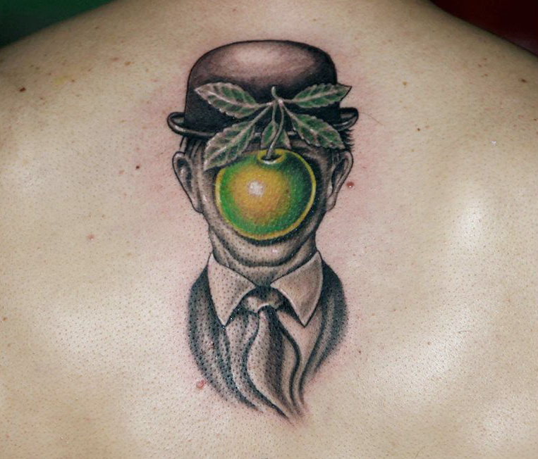 magritte-tattoo-apple