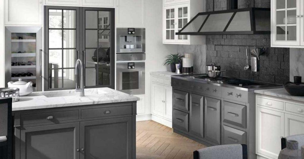 une cuisine blanche e grise voici 15