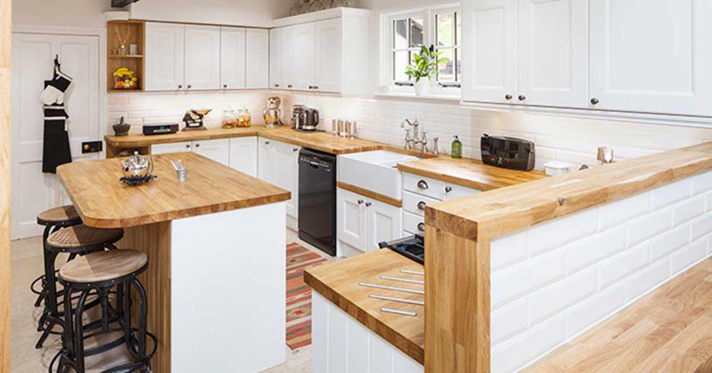 cuisine blanche et bois clair 15 idees