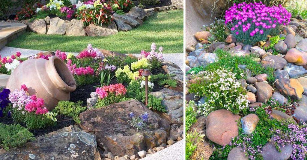 jardin de rocaille deco en pierre et