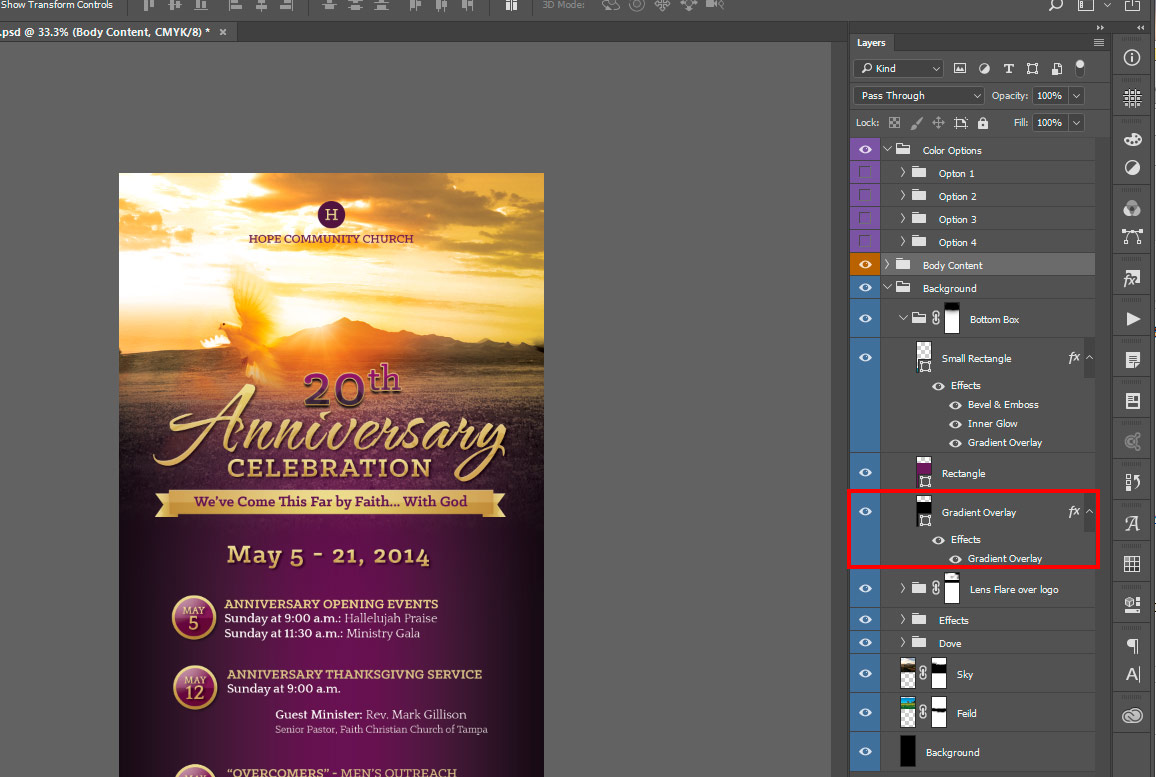 How to Edit Photoshop Template Gradient Layer Style