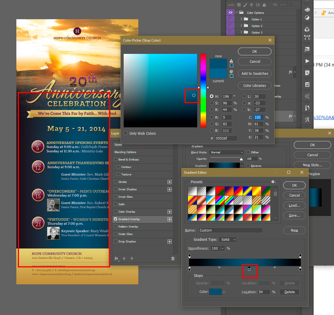 how to choose text color photoshop
