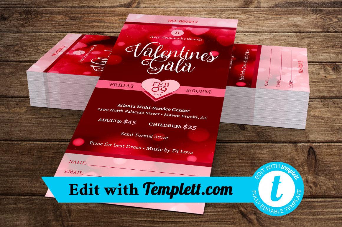 Valentines Gala Ticket Templett