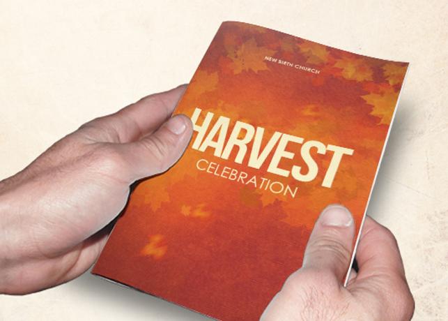 Harvest Celebration Church Bulletin Template