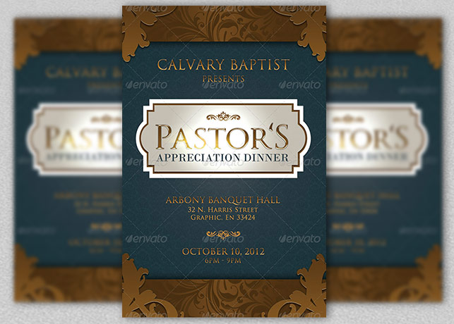 pastor appreciation dinner church flyer and cd