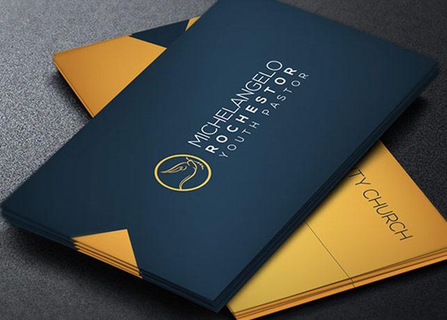 Modern pastor business card template inspiks market colourmoves