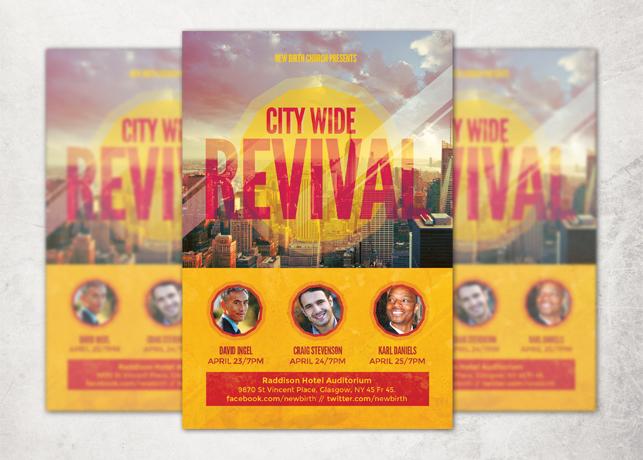 Citywide Revival Flyer Template | Inspiks Market