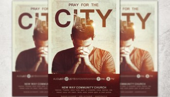 City wide revival church flyer template inspiks market pray for the city church flyer template pronofoot35fo Choice Image