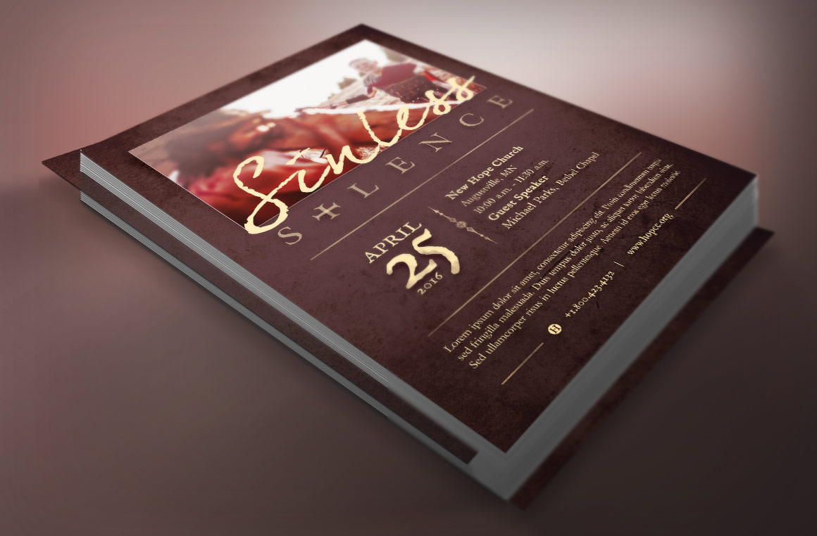 sinless christ church flyer template