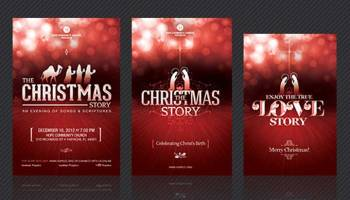 Bethlehems light christmas program template inspiks market christmas story event template bundle pronofoot35fo Gallery