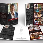Red Rock Tabloid Trifold Funeral Program Word Publisher Template