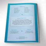 Sky Blue Diamond Funeral Program Word Publisher Template