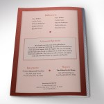 Copper Diamond Funeral Program Word Publisher Template