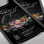 Silver Black Gospel Concert Flyer Word Publisher Template