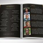 Diamond Funeral Program Word Publisher Template