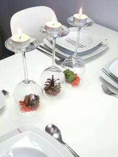 Jesienne dekoracje - stół