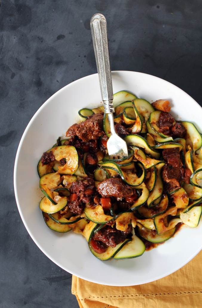 Hearty & Healthy Beef Stew with Zucchini Noodles