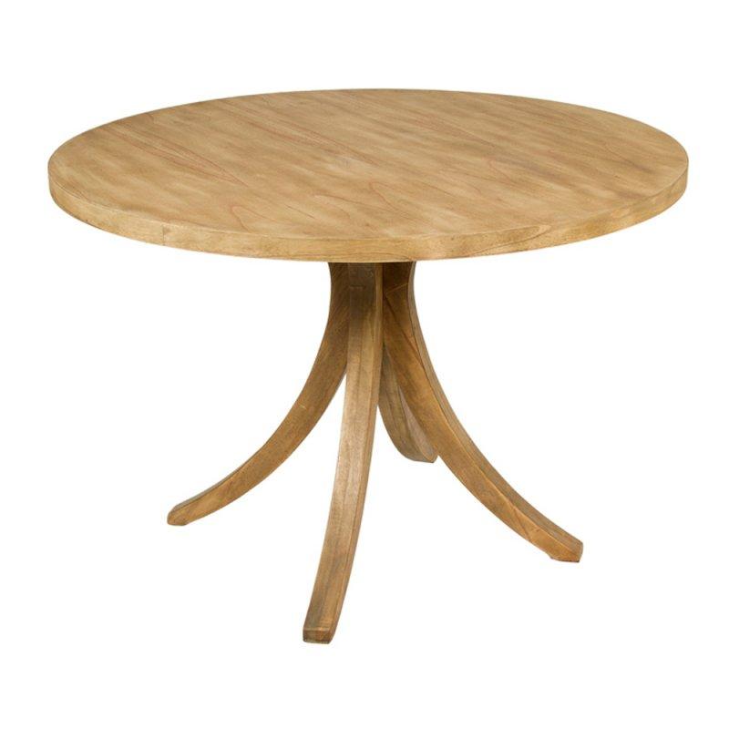 table ronde en bois de mindy diametre 120 cm inspiration luxe