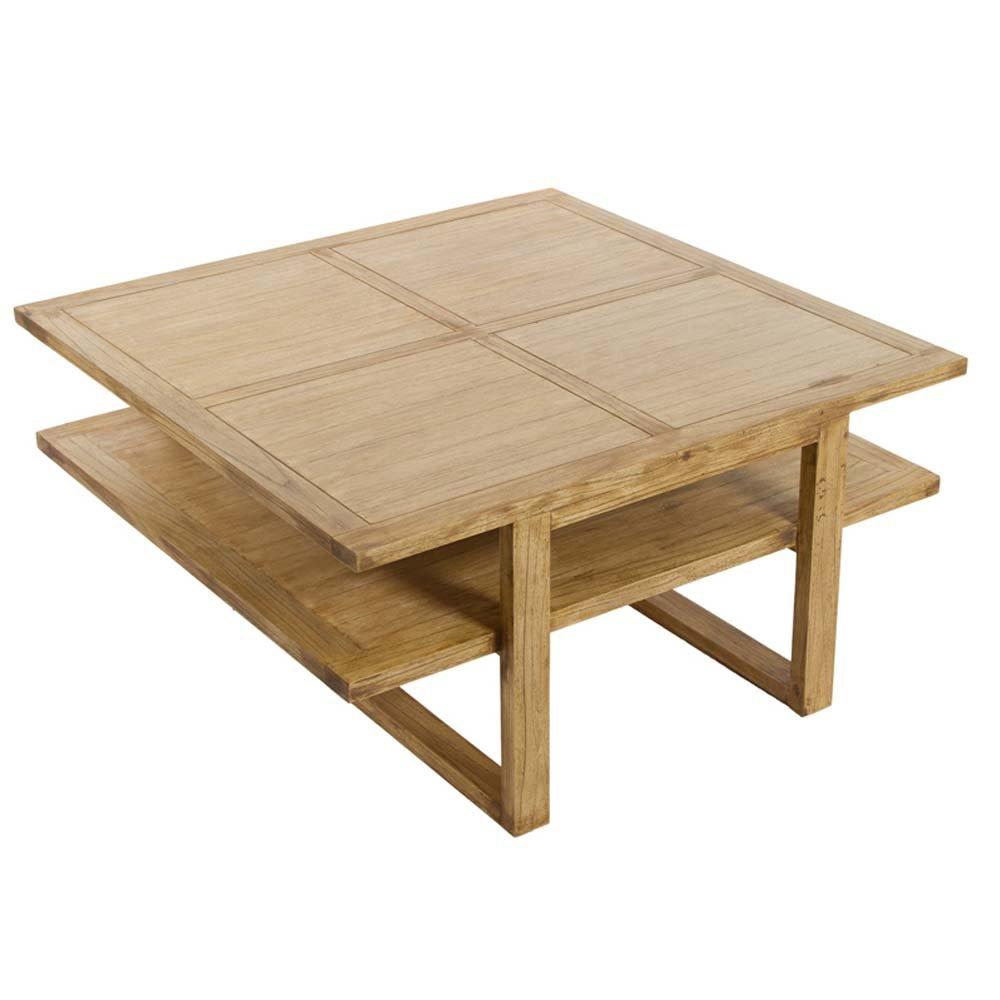 table basse carree style japonais en bois de mindy 90 x 90 cm