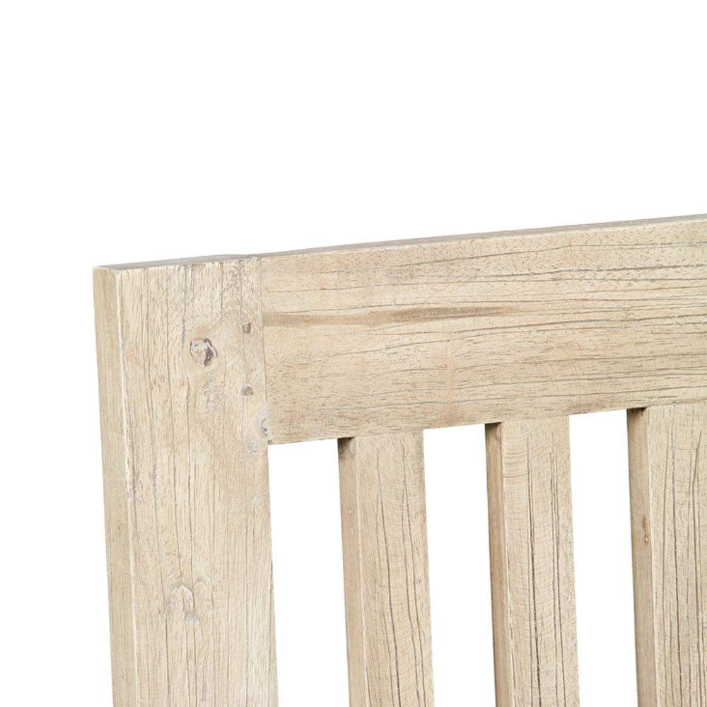 tete de lit a barreaux en bois de mindi couleur bois naturel 160 x h120 cm