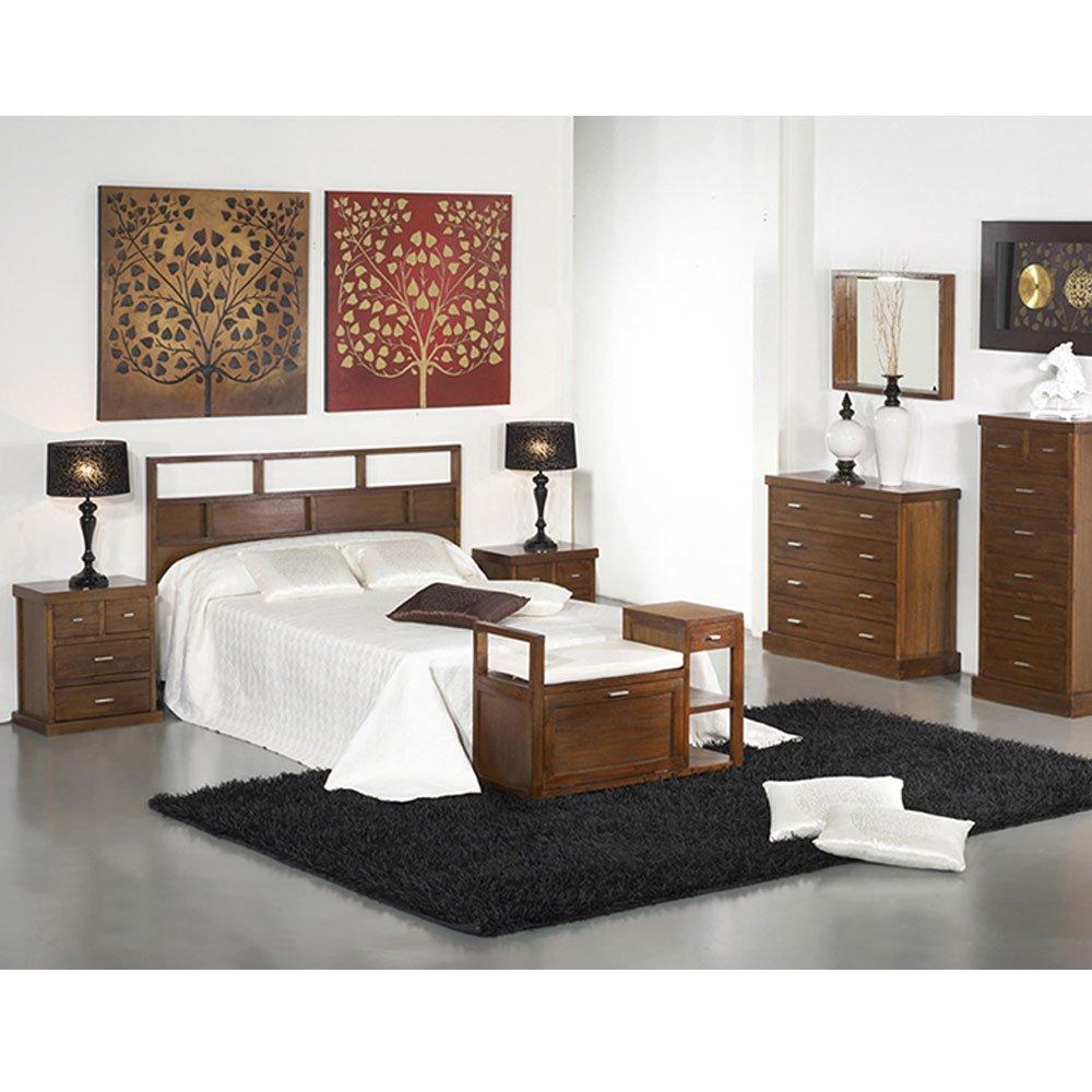 tete de lit contemporaine en bois de mindi couleur noix lit 2 places 160 x h110 cm