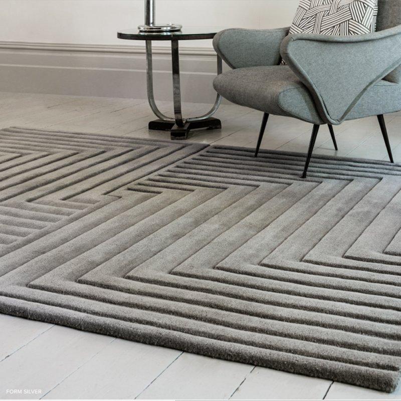 tapis de luxe gris en laine a effet 3d par joseph lebon inspiration luxe
