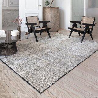 tapis design en soie de bambou large