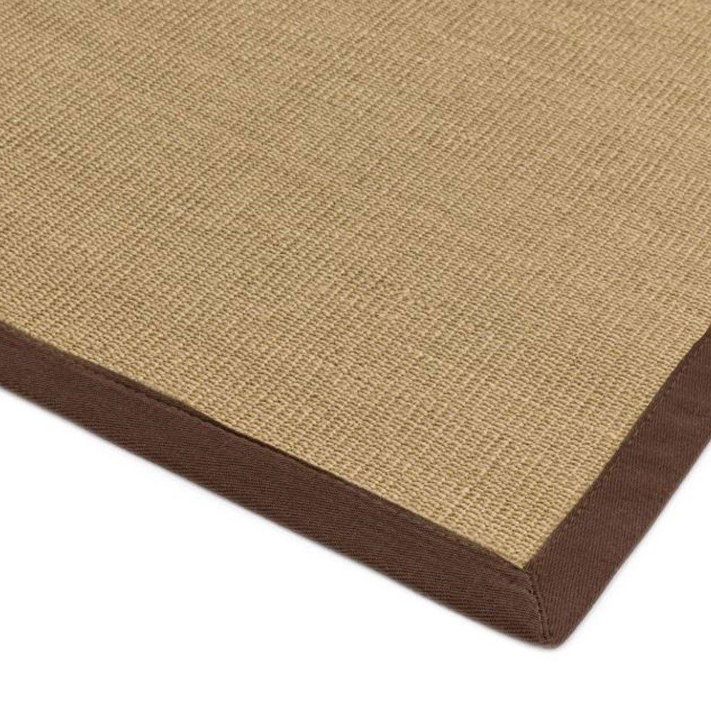 tapis design en sisal avec bordure coton marron par joseph lebon
