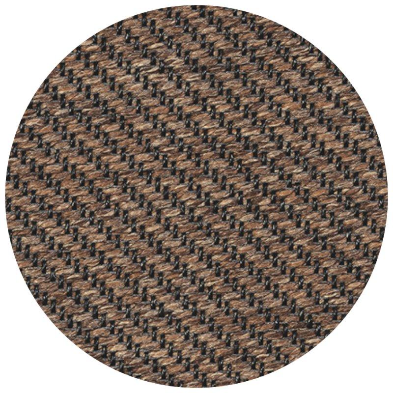 tapis d exterieur rond sur mesure beige et gris en polypropylene