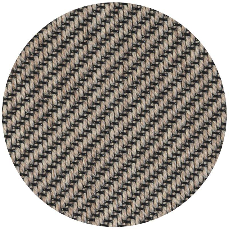 tapis d exterieur rond sur mesure gris clair et gris en polypropylene